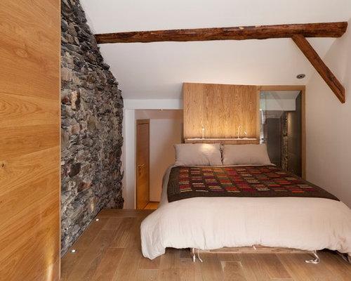 Chambre mansard e ou avec mezzanine montagne photos et id es d co de chambres mansard es ou - Chambre pont style montagne ...