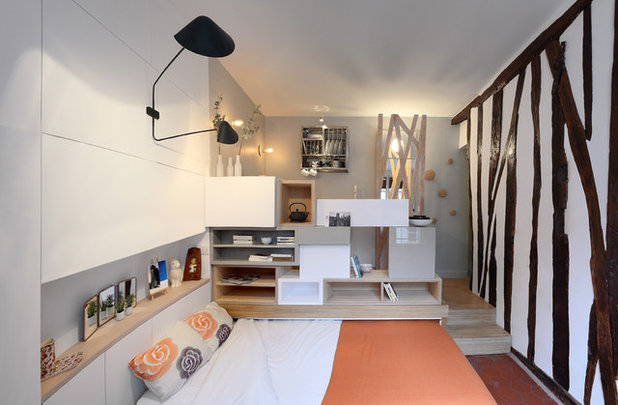 Contemporaneo Camera da Letto by Julie Nabucet Architectures