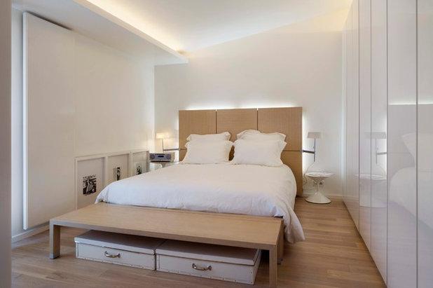 Idee camere da letto arredare la parete di fondo - Cartongesso in camera da letto ...