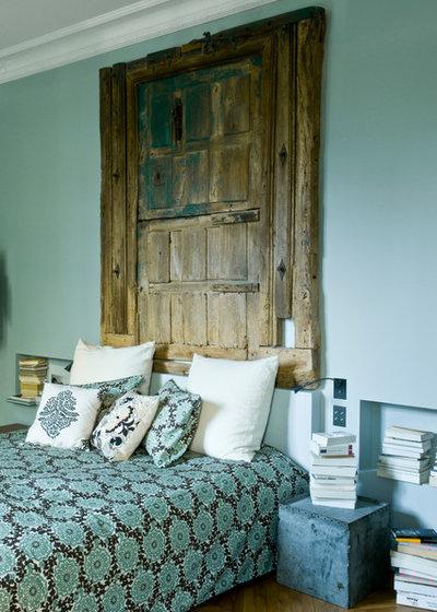 Le case di houzz l 39 eredit haussmaniana parigina in - Camera da letto verde acqua ...