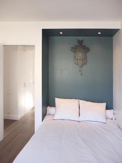 Idee camere da letto arredare la parete di fondo - Parete letto matrimoniale ...