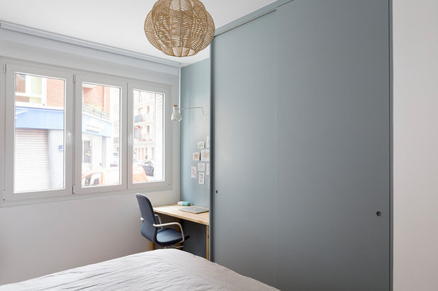 Contemporain Chambre by Lagom architectes