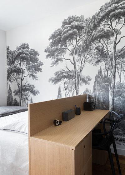 北欧 寝室 by Lagom architectes