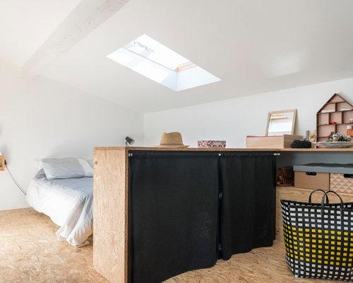 Camera Letto Bordeaux : Camera da letto con pavimento in compensato bordeaux foto e idee