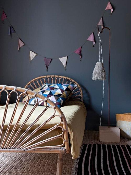 chambre avec un mur noir photos et id es d co de chambres. Black Bedroom Furniture Sets. Home Design Ideas