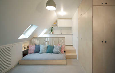 Houzz Франция: Квартира-студия площадью 15 кв.м в Париже