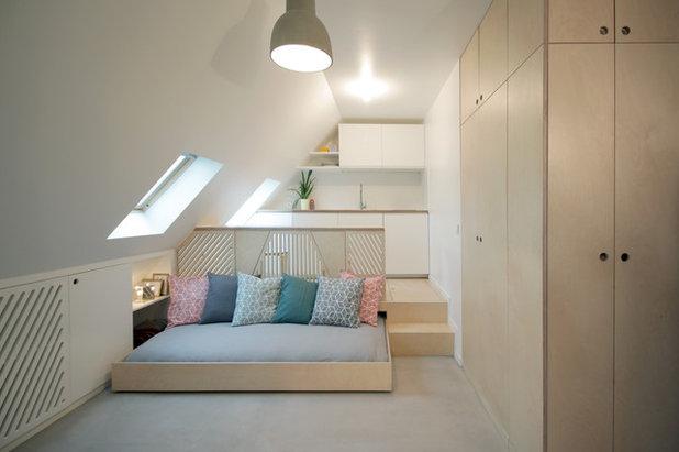 Houzzbesuch: Was man für eine Wohnung braucht? Nur 15 qm unterm Dach!