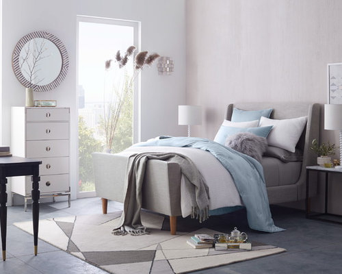 Design Ideas For A Medium Sized Classic Master Bedroom In London With White  Walls, Ceramic