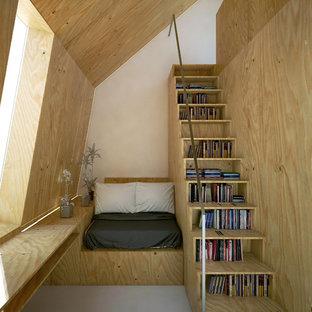 Ispirazione per una piccola camera da letto nordica