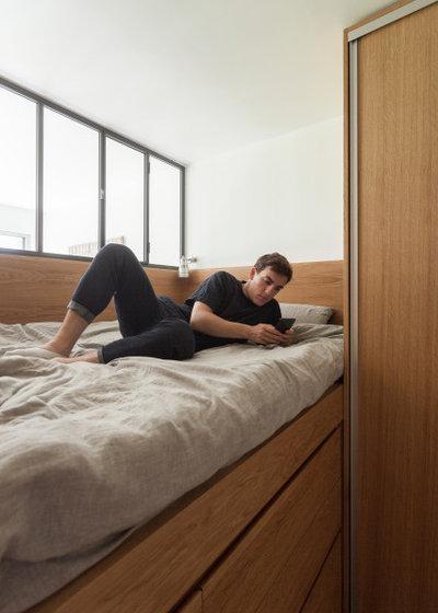 Скандинавский Спальня by ARCHITECT + DESIGNER