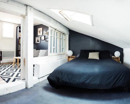 Camera Letto Bordeaux : Camera padronale con pareti nere bordeaux foto e idee per arredare