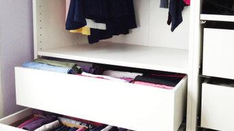 Tri, désencombrement et réorganisation d'un dressing