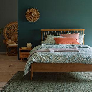 Immagine di una camera da letto tropicale