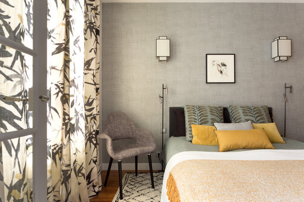 Transitional Bedroom by Catherine Plumet Interiors