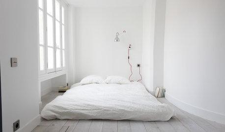 Sov gott i ett rofyllt minimalistiskt sovrum