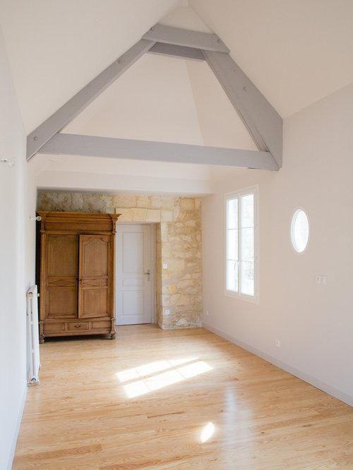 Chambre Contemporaine Plafond Blanc Poutre Apparente Photos Et Id Es D Co De Chambres