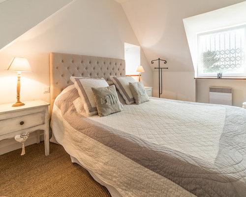 beige bedroom design ideas renovations photos with. Black Bedroom Furniture Sets. Home Design Ideas