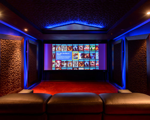 467 Contemporary Home Theater With A Built In Media Wall