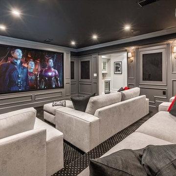 Gretna Green Way LA Remodeling cinema room