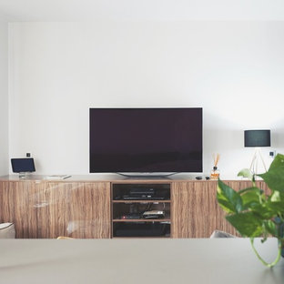 Home theater - scandinavian home theater idea in Other