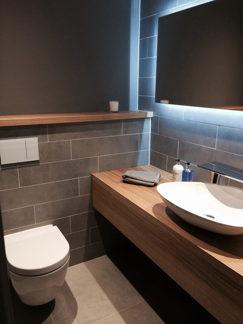 Small toilet space houzz for Toilet and bath design small space
