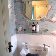 Traditional Powder Room by Walk Interior Design Limited