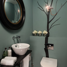 Contemporary Powder Room by Casey & Fox