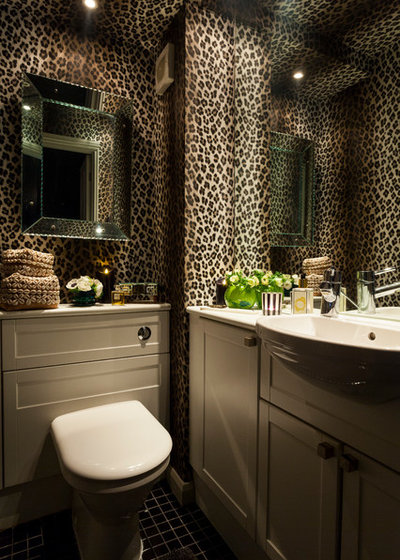 Eclectic Powder Room by Chris Snook