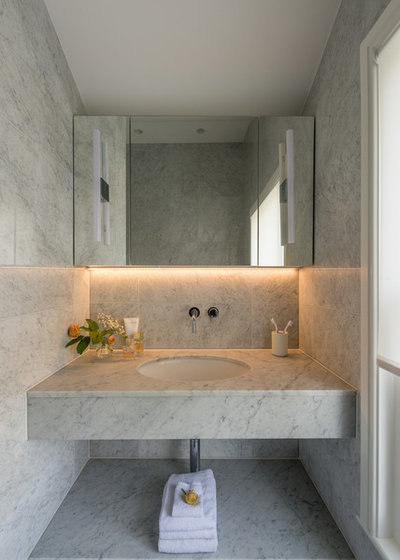 Contemporary Powder Room by rixon architecture
