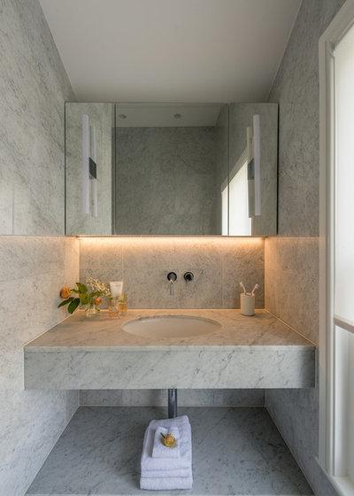Contemporary Powder Room by rixon architecture
