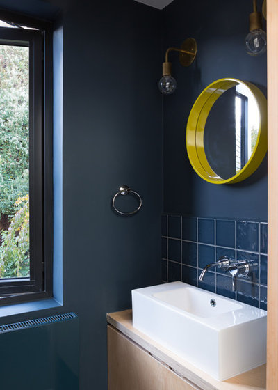 Contemporary Powder Room by Poulsom Middlehurst Ltd