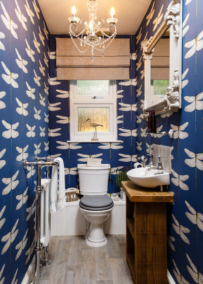Eclectic Cloakroom by Jenny Ballantyne Interiors