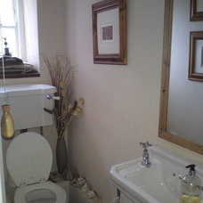 Traditional Powder Room by Norfolk Property Presenters