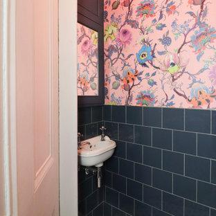 Идея дизайна: туалет в стиле фьюжн