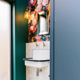 Compact Floral Bathroom