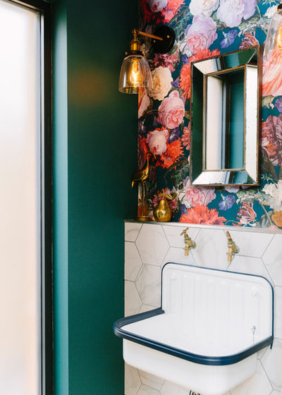 Transitional Powder Room by My Bespoke Room