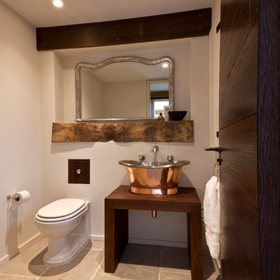 Design ideas for a rustic cloakroom in London.