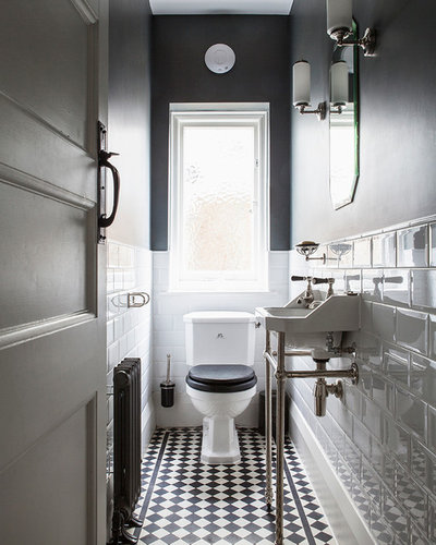 Traditional Powder Room by Minton Young