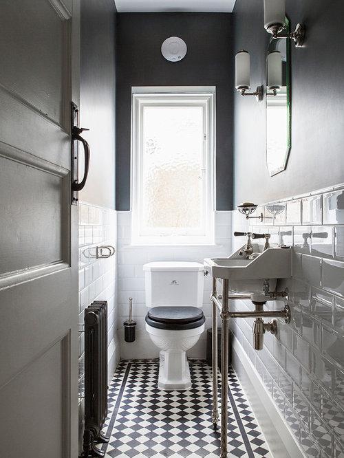 photos et id es d co de wc et toilettes avec un carrelage noir et blanc. Black Bedroom Furniture Sets. Home Design Ideas