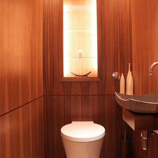 Contemporary cloakroom in London.