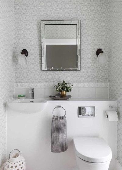 contemporaneo bagno di servizio contemporary powder room
