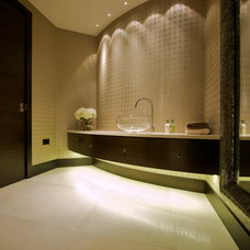 Contemporary Powder Room by Yorkshire Design Associates
