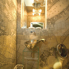 eclectic powder room by Louise Rea