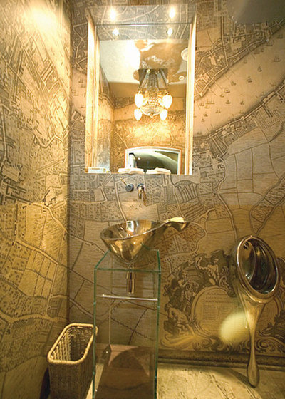 Eclectic Powder Room Eclectic Cloakroom