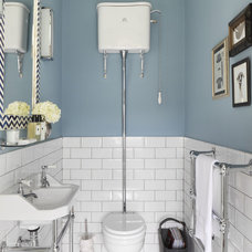 Traditional Powder Room by Oliver Burns