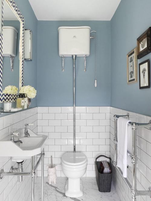 Photos et idu00e9es du00e9co de WC et toilettes avec un carrelage mu00e9tro