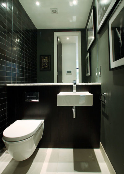 Contemporary Cloakroom by Alex Maguire Photography
