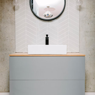 Geometric Ensuite Bathroom