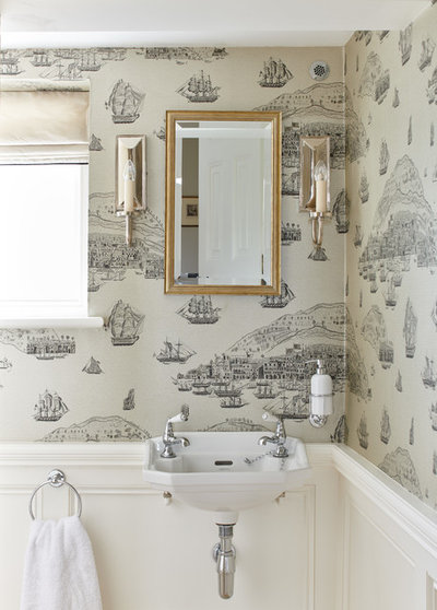 Traditional Powder Room by Etons of Bath