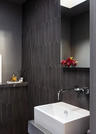 Contemporary Cloakroom by Helene Bowden Design